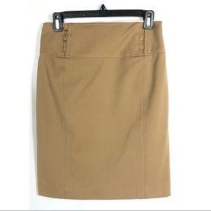 Express Tan Pencil Skirt size 4